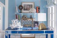 Color   Blue & White