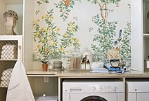 laundry room ideas / brainstorming our tiny laundry room into loveliness
