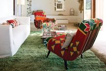 groovy living & dining spaces