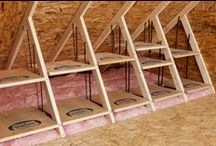 Clever Unfinished Storage / Ways to organize the garage, the workshop  the shed or the basement. / by Karen Bowen