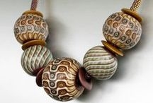 Creative Polymer Beads / Define beads... I found it difficult to classify what is a bead vs a pendant / by Karen Bowen