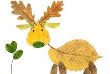Leaf & Stick Art!  ¥¥¥