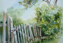 Aquarelle Arbres / Pour peindre à l'aquarelle...