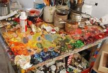 INSIDE  THE   ARTIST STUDIO / by Jayshree Rai