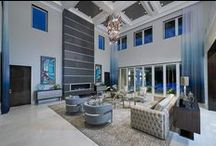 CASATOPIA | Living Spaces / Formal and informal living rooms by Casatopia, LLC featuring custom furniture, window treatments, lighting and more!