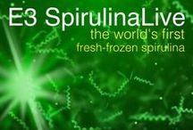 E3 SpirulinaLive by E3Live / E3 SpirulinaLive, like E3Live, is a nutrient dense aquabotanical. Our spirulina is never dried or processed. It is frozen fresh as a liquid and closest to its natural state, providing easily absorbed and assimilated nutrition.