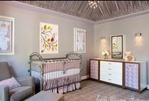 Lilac & Gray Girl's Nursery by Little Crown Interiors / Modern glam nursery in gray and lavender, designed by Little Crown Interiors in Orange County, CA.