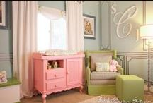 Laila Ali's Celebrity Nursery by Little Crown Interiors / Laila Ali's celebrity nursery in pink, blue and green, designed by Little Crown Interiors in Los Angeles, CA.