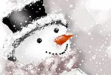 """Frosty""... / I've loved and collected snowmen for years... / by Kay Harrison"