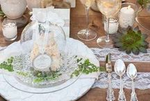 T A B L E S C A P E / Ideas for a gorgeous table setting... / by ~Janet Copeland~