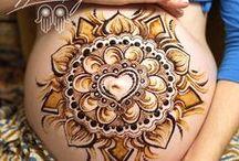 Pregnancy Henna / Pregnancy henna, henna done for prenatal nourishment, honouring and celebration!