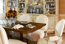 D I N I N G ... / Beautiful formal dining rooms... / by ~Janet Copeland~
