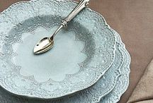 T A B L E W A R E ... / I love beautiful dishes an china.  I can't have enough. / by ~Janet Copeland~