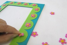 Picture Frame Lesson Plan / Use Smart-Fab to make this great DIY craft for your very own artwork!