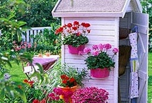 Garden Sheds, Potting Benches & Pots / by Shannon Stewart-Klein