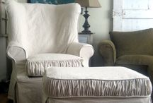 S L I P C O V E R ... / Love homey slip covered furniture ... / by Janet Copeland