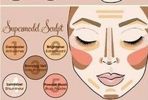 Contouring / Tips and makeup products for perfect skin contouring