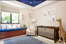 Night Sky Nursery by Little Crown Interiors / Night sky nursery by Little Crown Interiors - features a night sky ceiling mural that accents this neutral nursery with lots of organic and eco-friendly items.