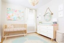 Neutral Pastel Nursery by Little Crown Interiors / A soft and feminine pastel nursery I designed for a baby girl in Los Feliz, CA.