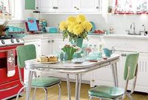 Kitchen Decor / DIY and kitchen decor ideas for adding color to your kitchen on a budget.