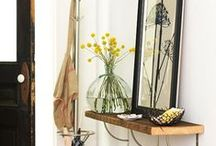 Welcome to our Home / Ideas to help organize and decorate the entryway of our home.