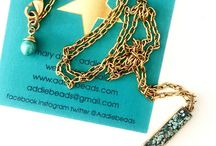 necklaces by addiebeads  / chains , chains, chains ... all my necklaces for now are on chains ... antique silver, antique gold and dark bronze ...