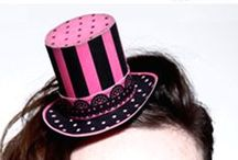 Mini Top Hats / 8 fantastic Mini paper top hats: Smart black top hat, Steampunk top hat, Burlesque hat, a Circus hat, St Patrick's day, Valentine's day & Halloween hats. Plus for all our USA friends, three 4th of July celebration mini top hats.