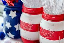 July 4th Inspiration / Throw a Red, White, and Blue bash! Show your patriotic pride year-round with these fun pins for July 4th, Memorial Day, and don't forget about Labor Day! #stars #fireworks