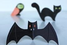 Halloween cute & not too spooky! / Easy to make Halloween printables. Ideas for parents and children looking to bring out that fluffy and cuddly Halloween monster lurking inside all of us!