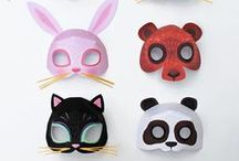 Masks for parties, costumes, dress-up and fun! / Everyone loves to make and wear masks. Handmade, DIY, paper craft, printable masks, animal masks, homemade masks, paper craft masks and printable masks are all featured on this page. Handmade, brought, vintage or just plain cool too!