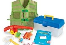 Dramatic Play / A collection of all of our costumes and toys that help a child engage with dramatic play.