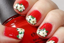 "Flower & Nature nail art by Maria / See other kinds of nail art on my board ""Other nail art by Maria"""