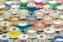 Vintage Dishes&Colored Glass / by Desiree Tennen