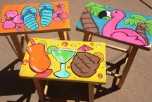 Painted Furniture / I love painted furniture! My daughters & I have found ugly pieces & turned them into fabulous furniture! This summer I painted several bar stools for my sister's deck & she loved them. I hope this board inspires you to salvage something ugly & make it beautiful.