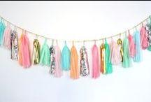 Design*Sponge Summer Party / Colors. Neon. Tropical prints. Flip flops. Hawaian shirts. Pizza. Ice Cream. Funny sunnies.