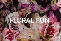 Floral Fun /  From flower garnished head bands to perfectly printed iKRUSH pieces x