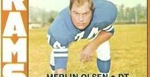 1962-76 #74 ML- Merlin Olsen/Bob Lilly / About Merlin Olsen  & Bob Lilly.THe 2 greatest defensive tackles of all time