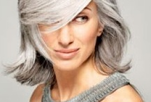 Silver hair in fashion / Grey / silver / natural - this board focuses on how great natural hair colour is, but also on the silver that younger folk are using to get to our lovely shades