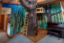 Tree Houses / Fun outdoor places for the kids