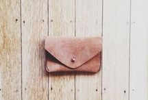 l e a t h e r / Leather bags, purses, wallets, backpacks. Goods that will hold up to the test of time.