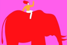 """Letter """"P"""" is for PACHYDERMS / ELEPHANTS, HIPPOS, RHINOS / by RedSeaCoral"""