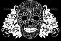 Dia de Los Muertos /BLACK AND WHITE ART