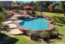 Freeform Pools / A Freeform Pool Design is a swimming pool that is not defined by straight lines or hard angles but rather a series of freeform curves and angles. They often are a lagoon style pool or a naturalistic pool with rock features, waterfalls and stone decking.