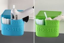 Hobby Holster / Heat resistant to 400°F, the Hobby Holster is the perfect home for your hot glue gun. The divided pocket allows you to hold a large or small glue gun as well as glue sticks, crafting pliers, scissors, hole punches, stamps and much, much more.