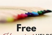 Homeschool Freebies / A round up of all sorts of free homeschool resources. From printables to fun websites, we've got ya covered!