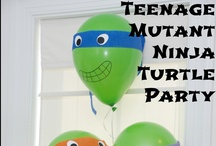 Teenage Mutant Ninja Turtle Birthday Party / Aden has changed his mind 3 times for the theme of his ninth birthday party.  Here we go again.  Ninja turtles.   / by Laura Vasquez