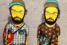osgêmeos / Dupla de grafiteiros, gêmeos idênticos e brasileiros.