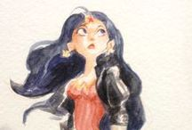 Fannish Art Watercolor