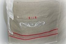 Vintage Mangle cloth aprons