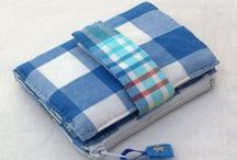 Gorgeous Gingham / inspired my latest hand sewn bi-fold fabric wallet - ginghams, striped and checks.